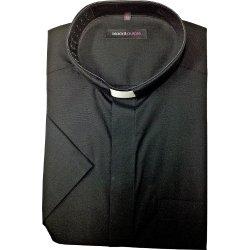 Camisa sacerdotal con alzacuellos